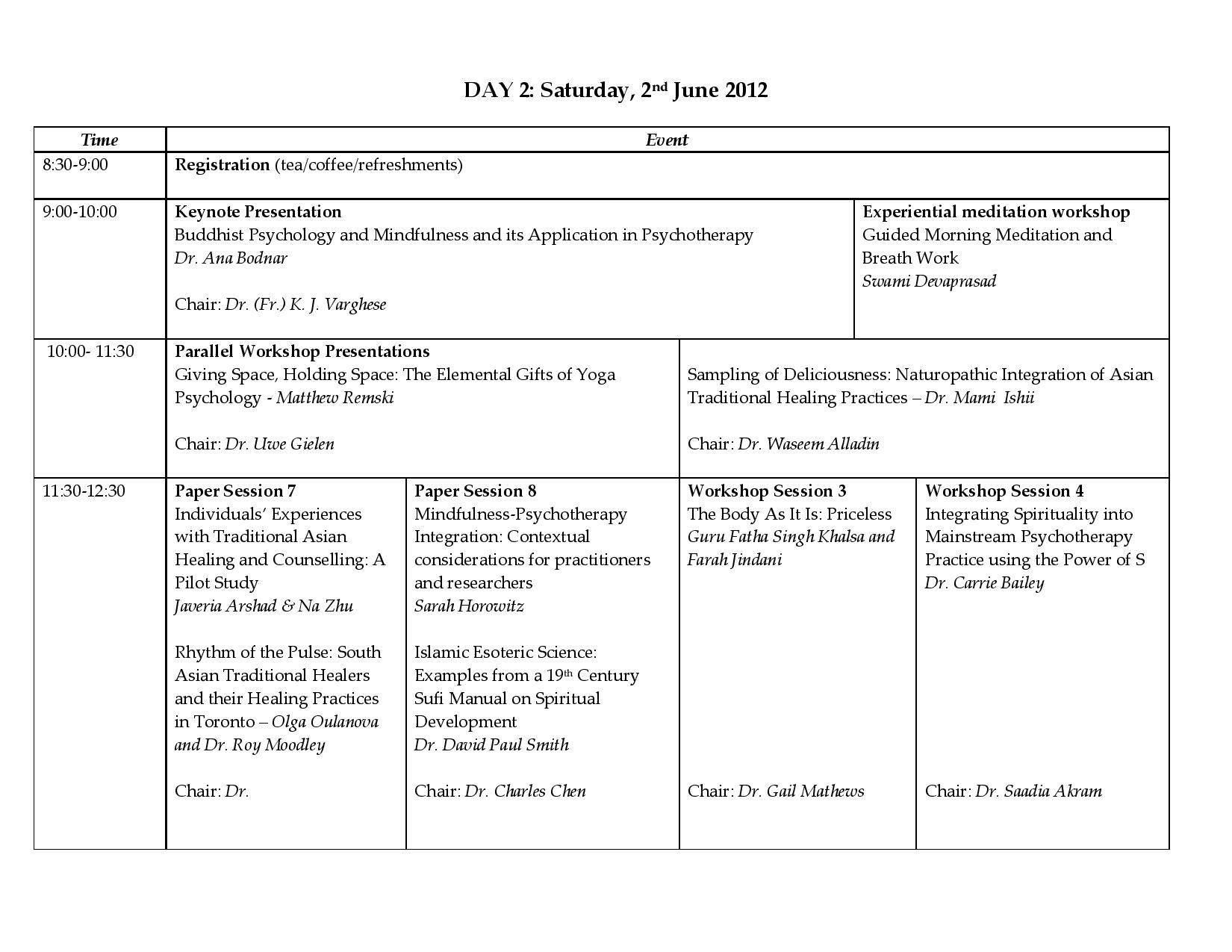 Program Schedule Day 2 pg 1