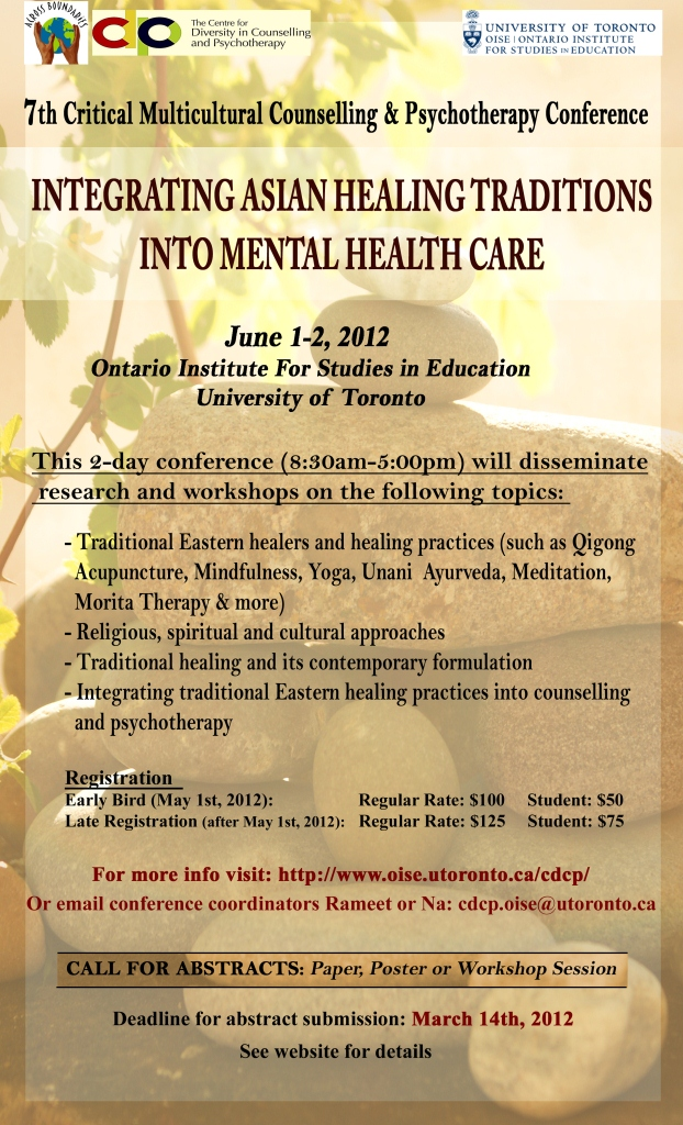CDCP Conference 2012, Integrating Asian Healing Traditions